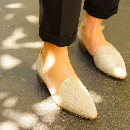 scarpa pantofola champagne